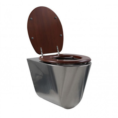 Rvs toilet - wandmodel conisch