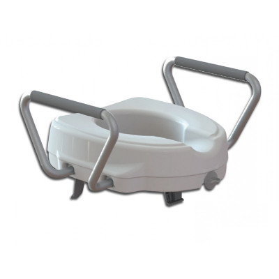 RAISED TOILET SEAT with fixed armrest - 12.5 cm