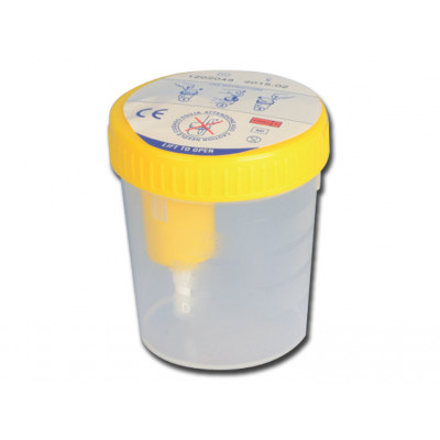 URINE CONTAINER PLUS 100 ml with blood sampling point