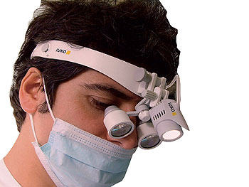 Hoofdlampen loepen endoscopie