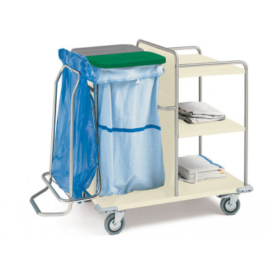 LAUNDRY TROLLEY painted steel