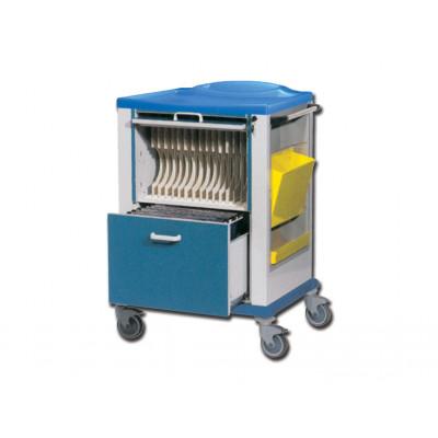 Wagen voor opslaan documenten en x-ray opnames