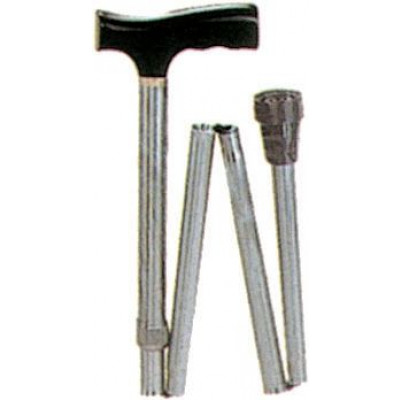 FOLDABLE ALUMINIUM WALKING STICK coffee