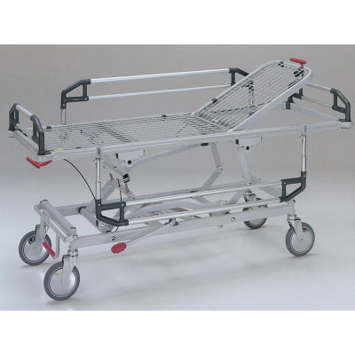 ADJUSTABLE HEIGHT PATIENT TROLLEY