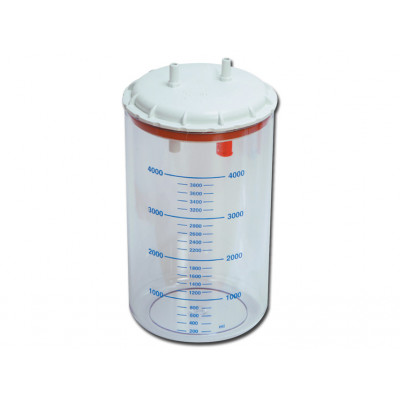 BOTTLE 4 l with cover autoclavable 121°C