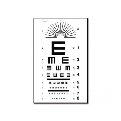 TUMBLING E OPTOMETRIC CHART