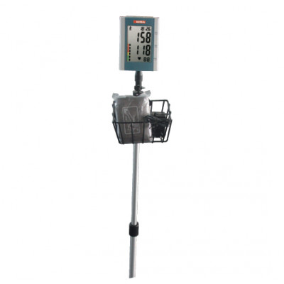 DOMINO DIGITAL BLOOD PRESSURE MONITOR - on trolley with basket