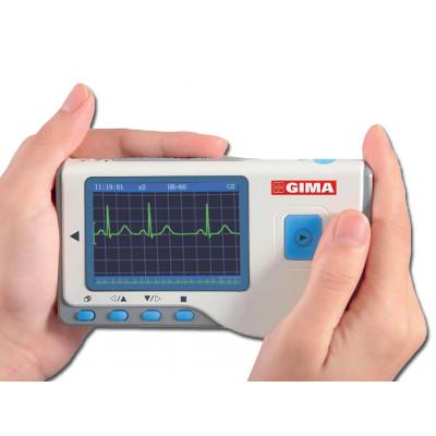 Cardio B Palm  ECG apparaat 1 kanaal met kleurendisplay