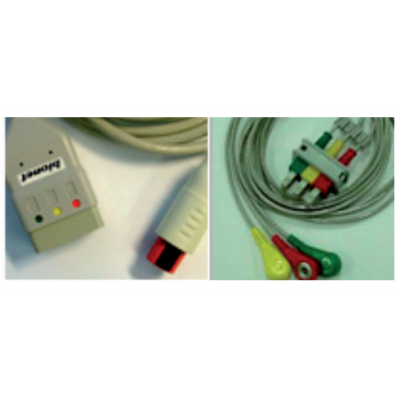 3 LEAD PATIENT CABLE KIT (cable + snap connector)