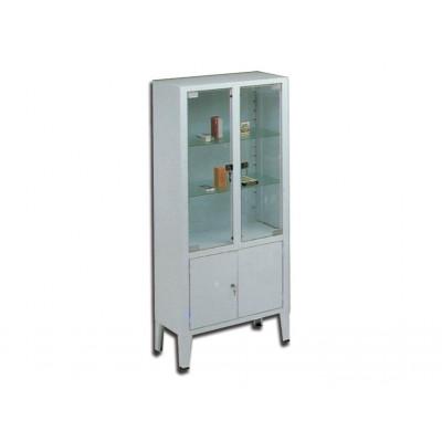 CABINET 4 doors 3 shelves tempered glass