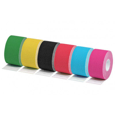 NEUROMUSCULAR TAPE - 9.1 m x 3.8 cm - mix 6 colours