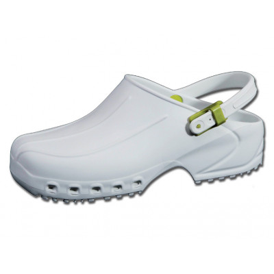ULTRA LIGHT CLOGS with straps white