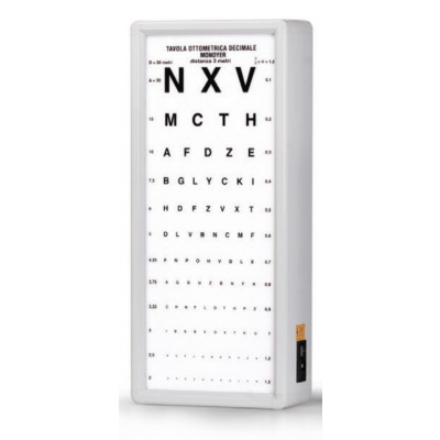 MONOYER OPTOMETRIC CHART 3 m not illuminated