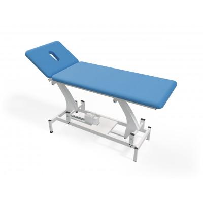 Elektrisch in hoogte verstelbare massagetafel met 2 secties