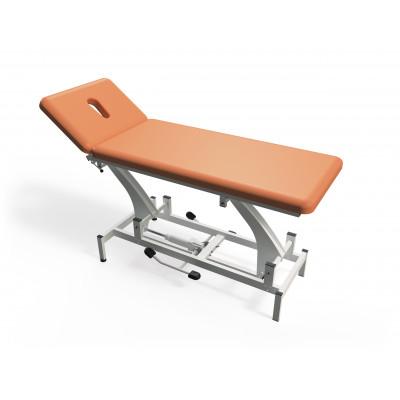 Hydraulisch in hoogte verstelbare massagetafel met 2 secties