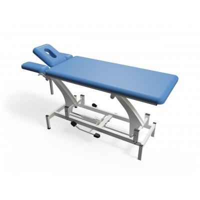Elektrisch in hoogte verstelbare massagetafel met 4 secties