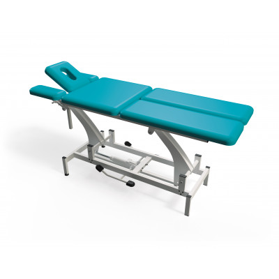 Hydraulisch in hoogte verstelbare massagetafel met 6 secties