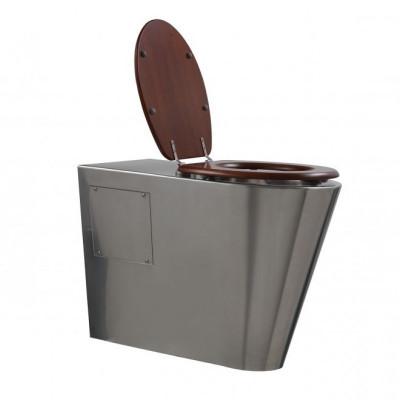 Rvs toilet - staand model verlengd