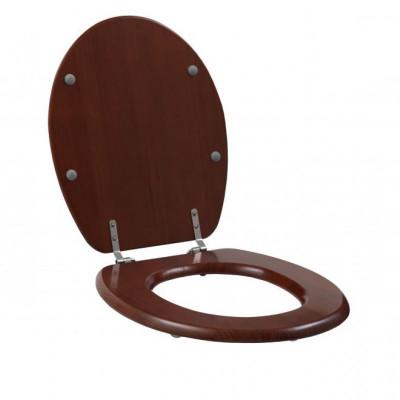 WC bril hout - Mahonie